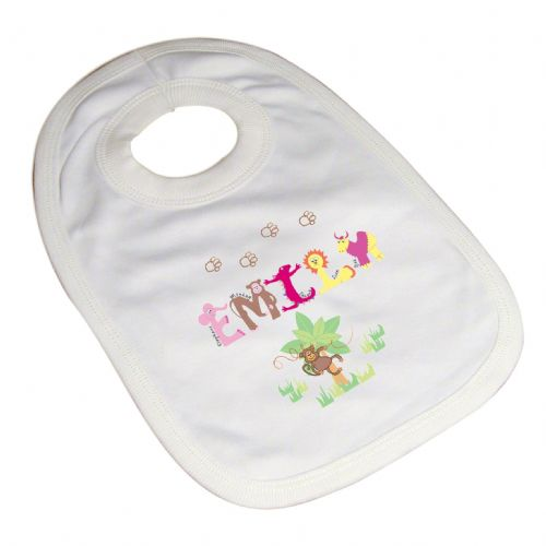 Personalised Girls Animal Alphabet Bib